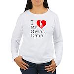 I Love My Great Dane Women's Long Sleeve T-Shirt
