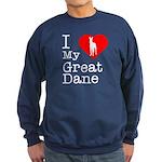 I Love My Great Dane Sweatshirt (dark)