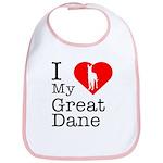 I Love My Great Dane Bib
