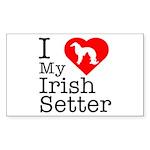 I Love My Great Dane Sticker (Rectangle 50 pk)