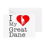 I Love My Great Dane Greeting Card