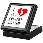 I Love My Great Dane Keepsake Box