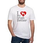 I Love My Irish Setter Fitted T-Shirt