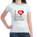 I Love My Irish Setter Jr. Ringer T-Shirt