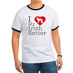 I Love My Irish Setter Ringer T