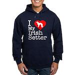 I Love My Irish Setter Hoodie (dark)