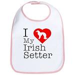 I Love My Irish Setter Bib