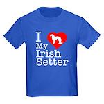 I Love My Irish Setter Kids Dark T-Shirt