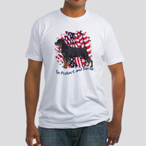 Rottie 2 Fitted T-Shirt