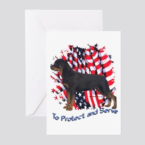 Rottie 2 Greeting Cards (Pk of 10)