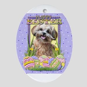 Easter Egg Cookies - Husky Ornament (Oval)