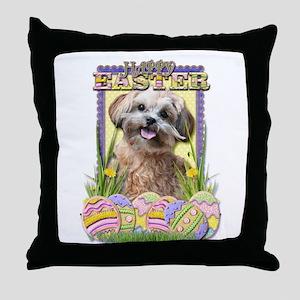 Easter Egg Cookies - ShihPoo Throw Pillow
