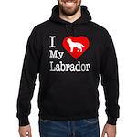 I Love My Labrador Retriever Hoodie (dark)
