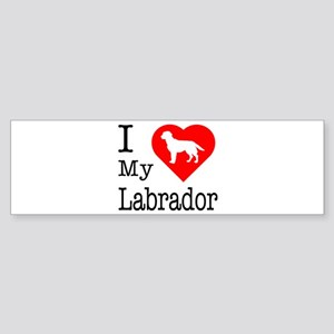 I Love My Labrador Retriever Sticker (Bumper)