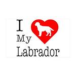 I Love My Labrador Retriever 38.5 x 24.5 Wall Peel