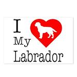 I Love My Labrador Retriever Postcards (Package of