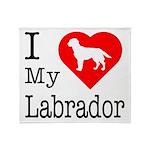 I Love My Labrador Retriever Throw Blanket