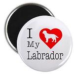 I Love My Labrador Retriever 2.25