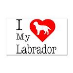 I Love My Labrador Retriever Car Magnet 20 x 12