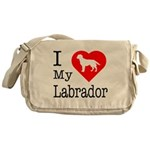 I Love My Labrador Retriever Messenger Bag