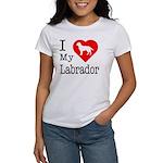 I Love My Labrador Retriever Women's T-Shirt