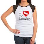 I Love My Labrador Retriever Women's Cap Sleeve T-