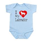 I Love My Labrador Retriever Infant Bodysuit