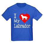 I Love My Labrador Retriever Kids Dark T-Shirt