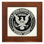Border Patrol, Cit MX - Framed Tile