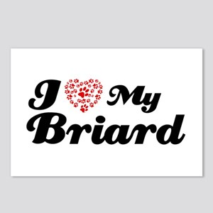 I love my Briard Postcards (Package of 8)