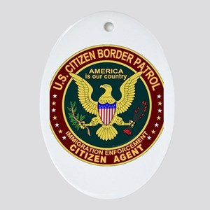 Border Patrol, Cit MX - Oval Ornament