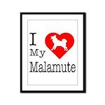 I Love My Malamute Framed Panel Print
