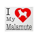 I Love My Malamute Throw Blanket
