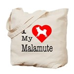 I Love My Malamute Tote Bag