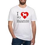 I Love My Malamute Fitted T-Shirt