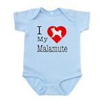 I Love My Malamute Infant Bodysuit