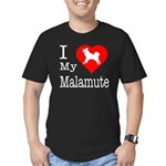 I Love My Malamute Men's Fitted T-Shirt (dark)