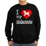 I Love My Malamute Sweatshirt (dark)
