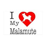 I Love My Malamute 38.5 x 24.5 Wall Peel