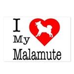 I Love My Malamute Postcards (Package of 8)