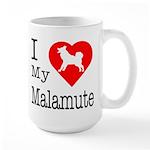 I Love My Malamute Large Mug