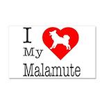 I Love My Malamute Car Magnet 20 x 12