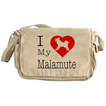 I Love My Malamute Messenger Bag