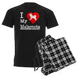 I Love My Malamute Men's Dark Pajamas