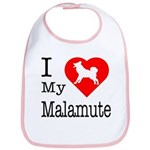 I Love My Malamute Bib