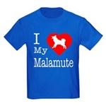 I Love My Malamute Kids Dark T-Shirt
