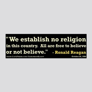 """Reagan Establish No Religion 42x14 Wall Peel"