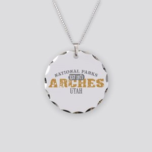Arches National Park Utah Necklace Circle Charm