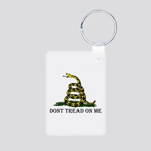 Don't Tread On Me Aluminum Photo Keychain