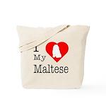 I Love My Maltese Tote Bag